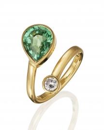 Fa. Ulrike Weyrich - Fa.Ulrike Weyrich_Flyer_Ring_Turmalin_Diamant_750GG